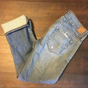 American eagle Capri/Crop Light Denim Jeans size 4